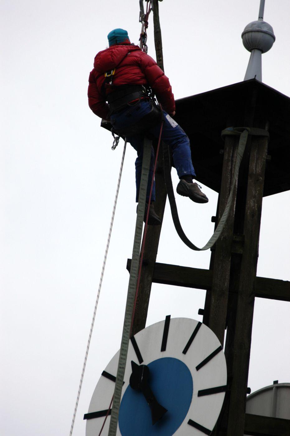 Demontage Glockenturm Schlachthof
